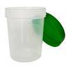 Urinprobenbecher 125ml, mit grünem Schraubdeckel
