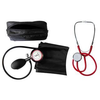 1-Schlauchgerät + Stethoskop Flachkopf rot
