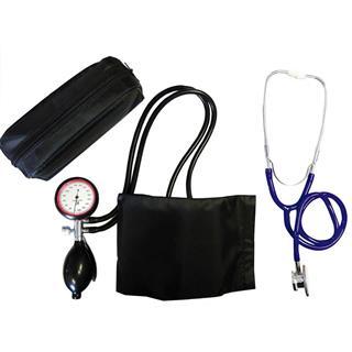 2-Schlauchgerät + Stethoskop Doppelkopf blau