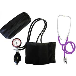2-Schlauchgerät + Stethoskop Doppelkopf violett