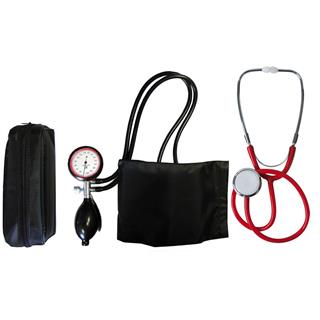 2-Schlauchgerät + Stethoskop Flachkopf rot