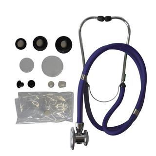 1-Schlauch TIGA PRO + Stethoskop Rappaport blau