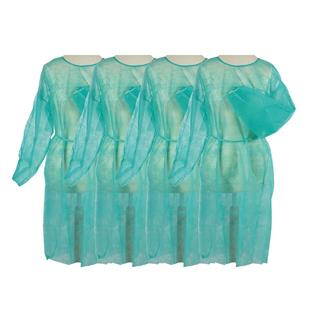Vlies-/Hygienekittel, 120x140cm, grün, ca.30gr./m2 Pack à 10 Stück