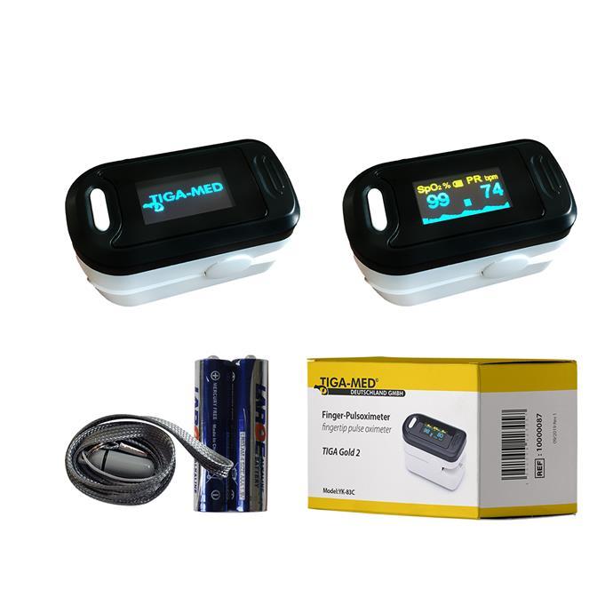 Finger-Pulsoximeter Modell TIGA-MED Gold 2 OLED