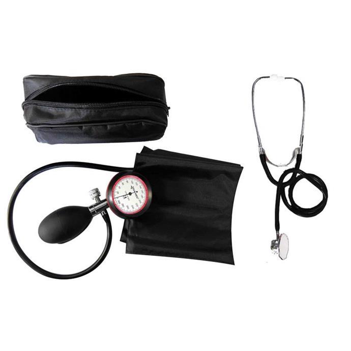 1-Schlauchgerät + Stethoskop Doppelkopf schwarz