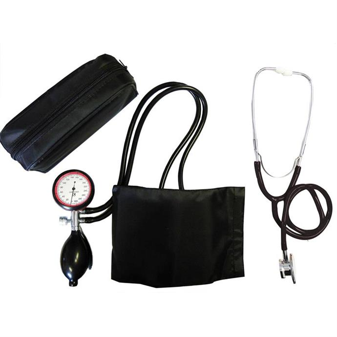 2-Schlauchgerät + Stethoskop Doppelkopf schwarz