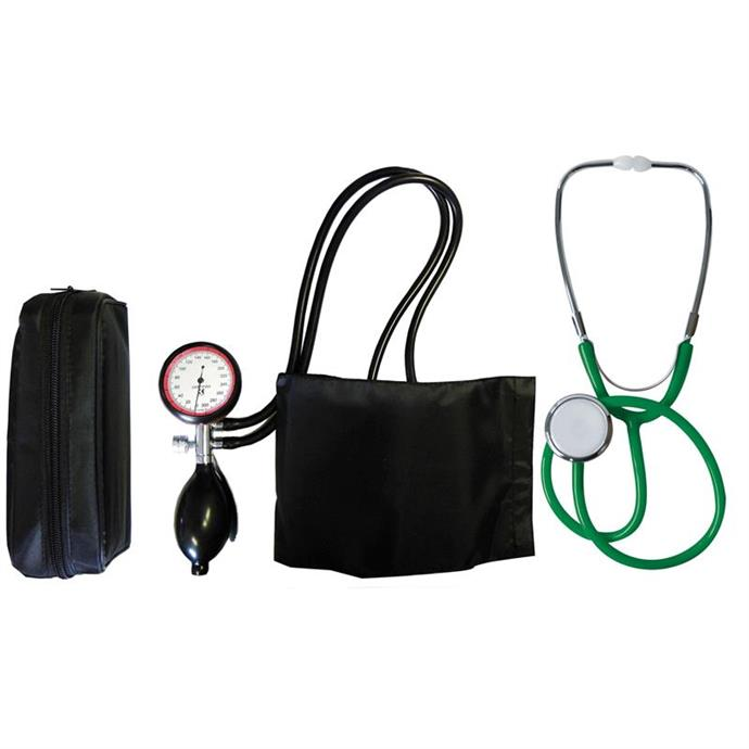 2-Schlauchgerät + Stethoskop Flachkopf grün