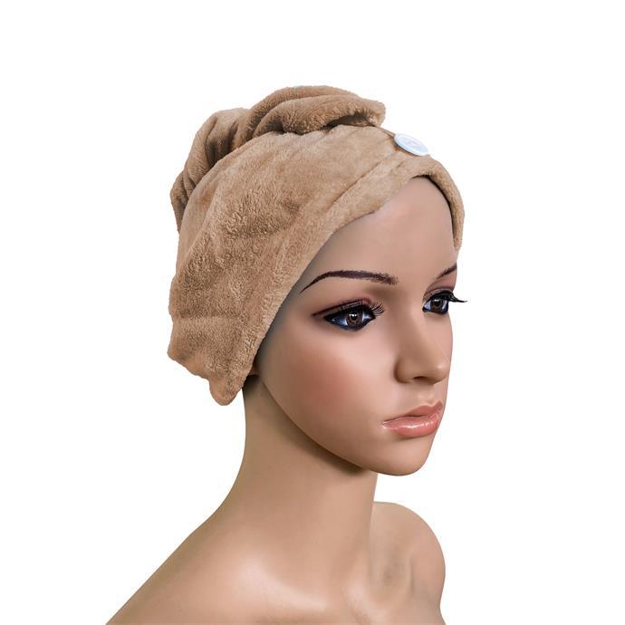 Haarturban aus Fleece, Kopfhandtuch