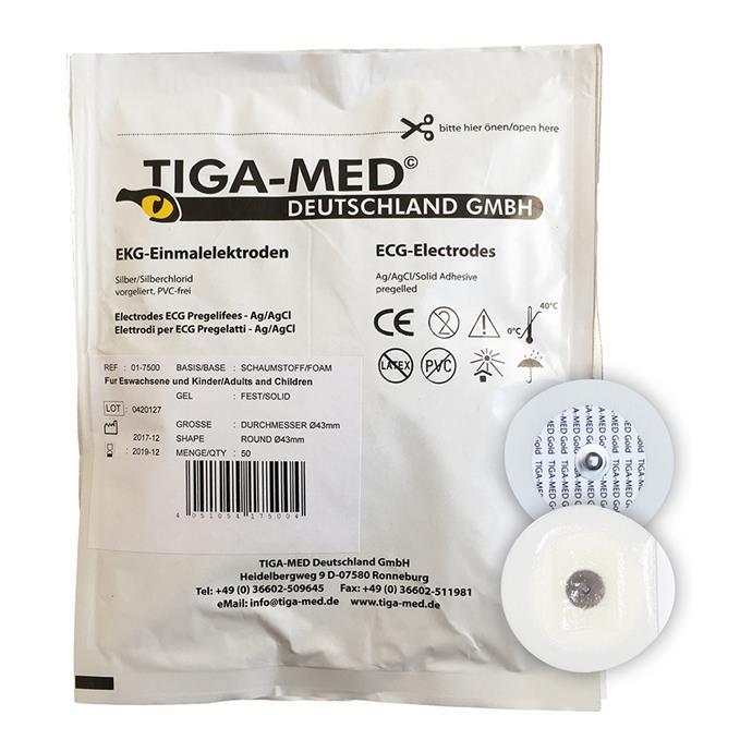 EKG-Klebeelektrode, Festgel, 50 Stück/Pack