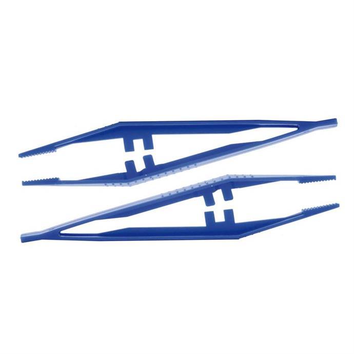 Pinzetten, blau, einzeln steril verpackt, Pack à 100 Stück
