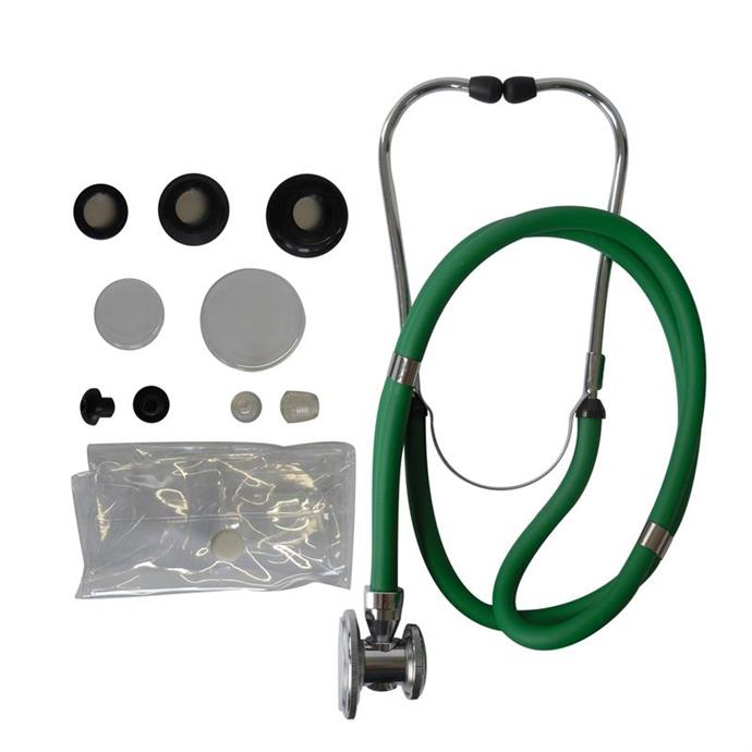 1-Schlauch TIGA PRO + Stethoskop Rappaport grün