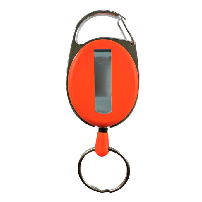 Schlüsselhalter, ausziehbar, orange