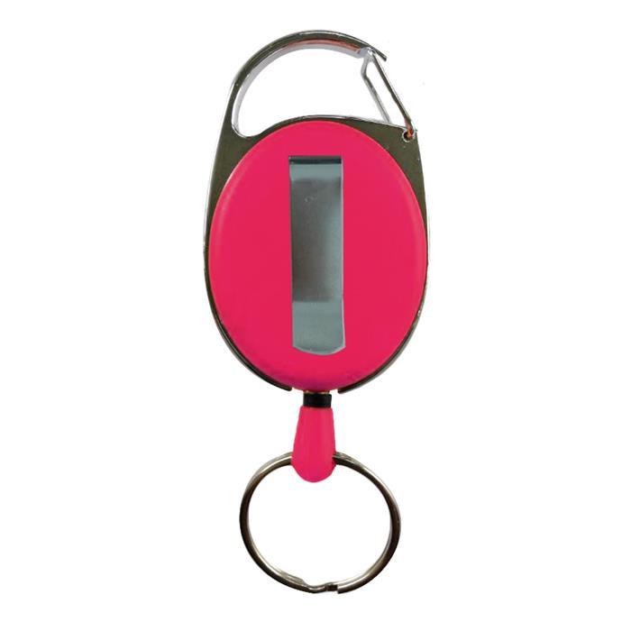 Schlüsselhalter, ausziehbar, pink