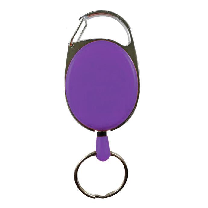 Schlüsselhalter, ausziehbar, violett