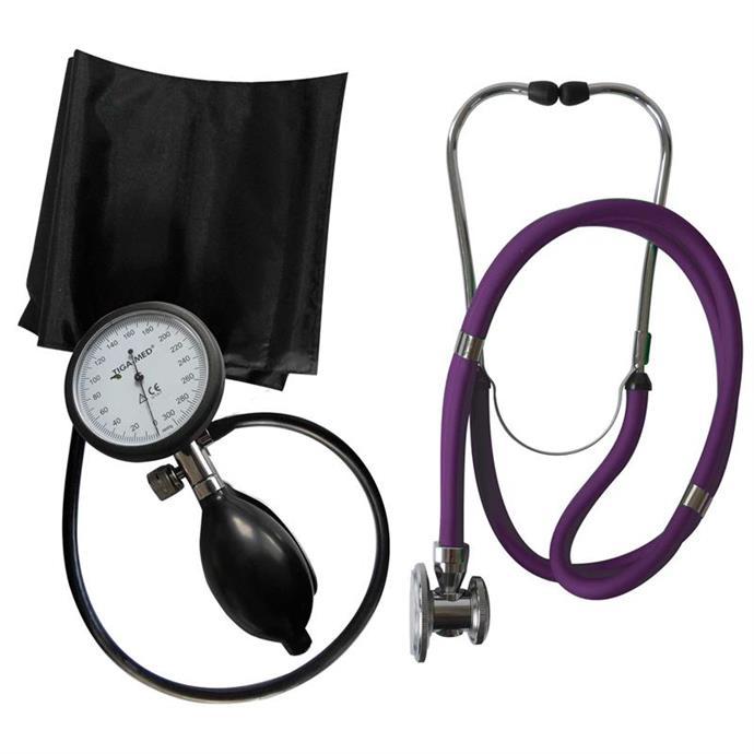 1-Schlauch TIGA PRO + Stethoskop Rappaport violett