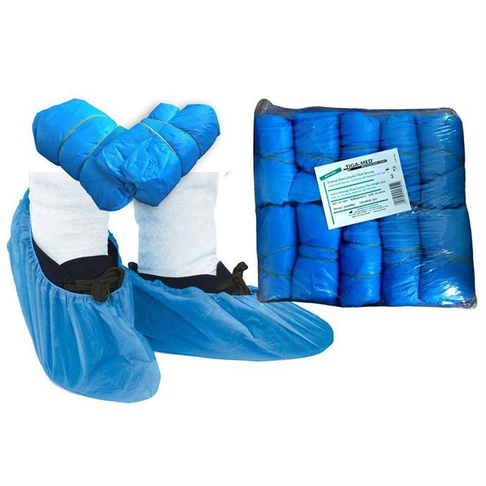 OP-Überschuhe TIGA Strong, ca.3,6gr, blau, CPE Pack à 100 Stück