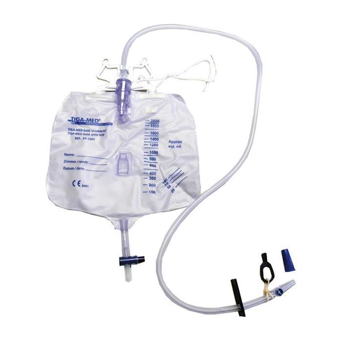 Urinbeutel TIGA-MED Gold, geschlossenes System, 2000 ml, steril