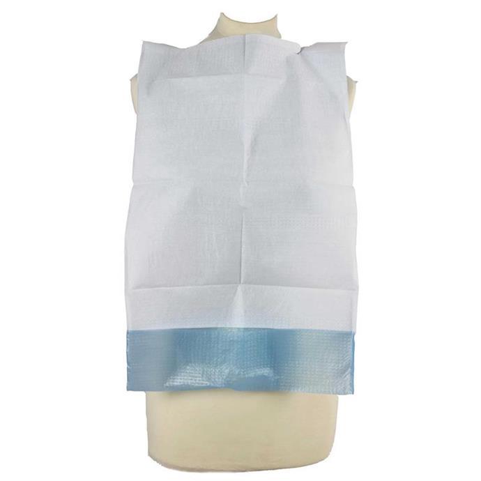 Esslätzchen, Auffangbeutel, 66 x 37 cm, blau/weiß Pack à 50 Stück