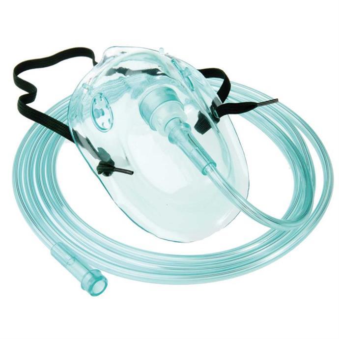Sauerstoffmasken, für Erwachsene, 210 cm Schlauch