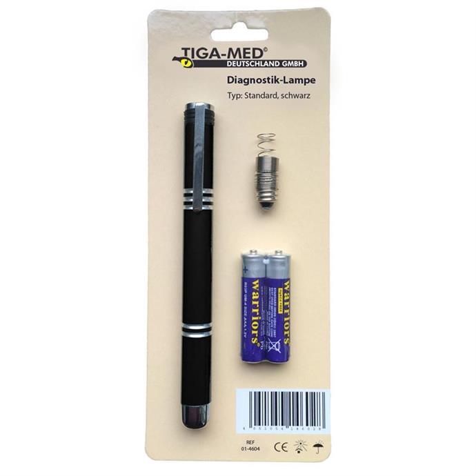 Diagnostikleuchte mit Batterien