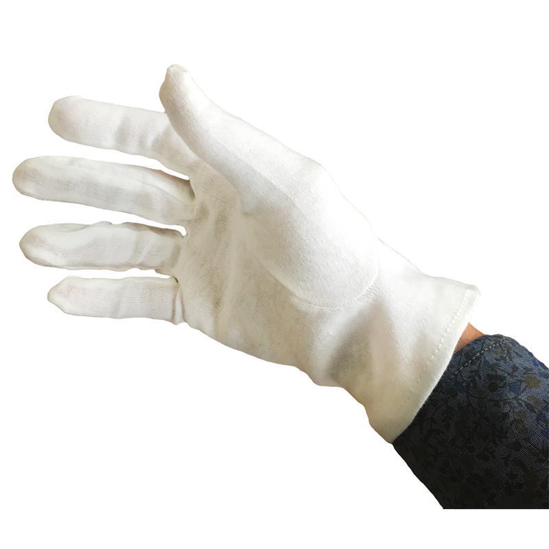 8 120 Paar TOP Baumwoll-Trikot Handschuhe weiß Gr